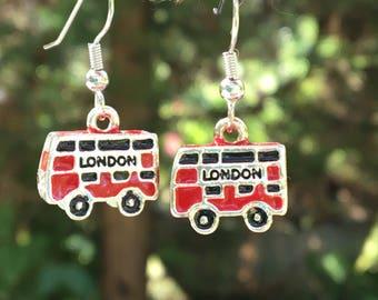 London Double Decker Bus Earrings Gifts for Her