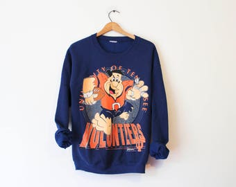 Vintage Blue University of Tennessee UT Volunteers Fred Flintstone Sweatshirt