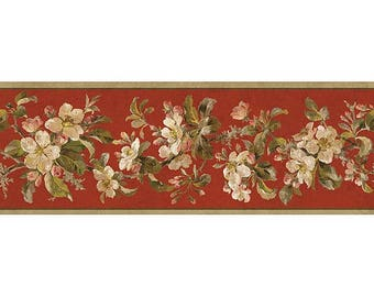 GE57103B Birds of Versailles Border floral  Wallpaper Border
