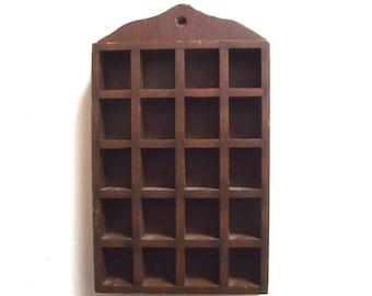 Little Thimble or Trinket Shelf, Vintage Wood Wall Shelf