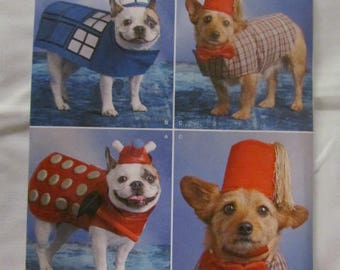 New Uncut Pattern Dog Doctor Who Costume 3 Sizes  Simplicity-8189- FREE SHIPPING US
