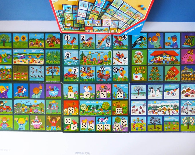 Fun Numbers Ravensburger 1979 numbers, counting, lotto