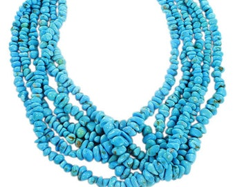 SLEEPING BEAUTY TURQUOISE Rounded Nugget Beads  4.5-10mm Asianbeads