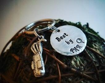 Best by PAR sterling silver keychain