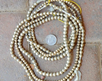 ON SALE African Silver Globes/Bicones 3 Strands