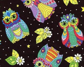 Night Bright Owls - Wilmington Prints - Fat Quarter
