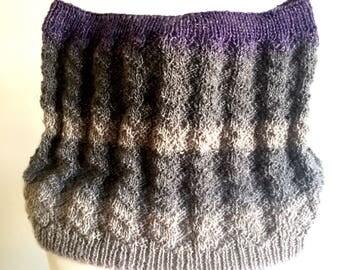 pdf knitting pattern  easy cowl