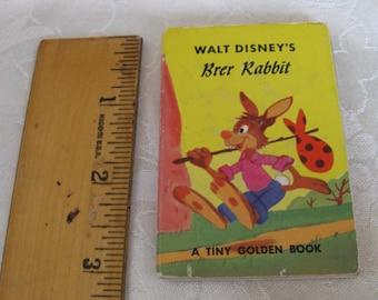 Vintage Walt Disney's Brer Rabbit A Tiny Golden Book Miniature Children's Book