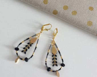 "Earrings ""drops winter"""