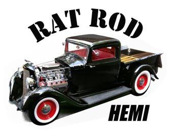 Rat Rod Pickup HEMI T-Shirt