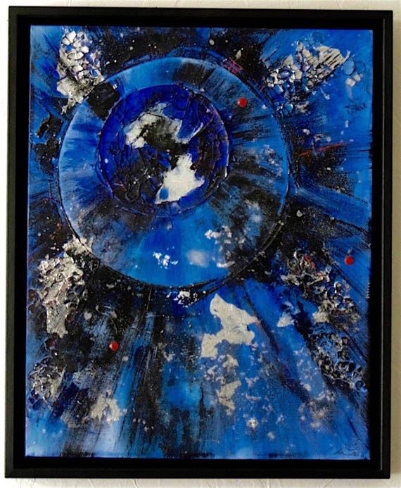 Blue & Black Abstract