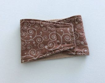 Dog Diaper - Male Dog Belly Band - Belly Wrap -  Brown with Beige Swirls - Available in all Sizes