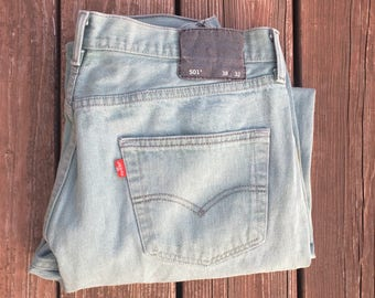 Vintage Levi's 501 Green Button Fly Jeans - 36 x 28