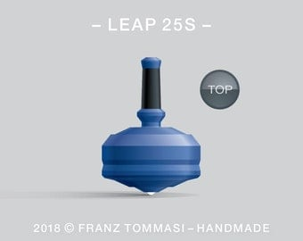 Leap 25S (Blue) – Spin top with ceramic tip and rubber grip