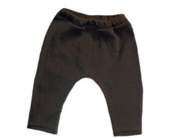 Brown Baby Pants. 100% Super Soft  Cotton Interlock Knit. Soft elastic Waist. 6 Sizes for Preemie, Newborn and Toddlers up to 24 Months.