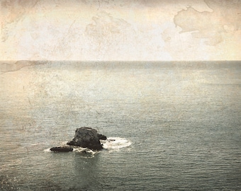 Vintage Art, vintage photo, Ocean Art, Beach Art, Fine art photography, digital artwork, Abstract Beach Art, Calm Seas, Ocean, Sea