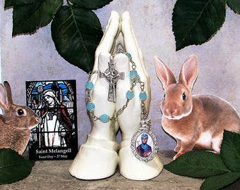 Unbreakable Catholic Chaplet of St. Melangell - Patron Saint of Rabbits, Small Animals and the Environment - Heirloom Chaplet