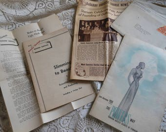 Vintage Beauty Fashion Diet Plan Booklets Paper Ephemera at Quilted Nest