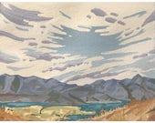 Print of Painting Watercolor Wall Art Utah Landscape Watercolor Painting Print Watercolor Art Landscape Painting Utah