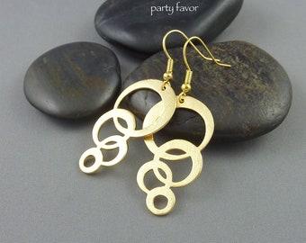 Party Favor. Gold Bubble Drop Earrings. modern earrings. dainty earrings. dangle earrings. gold earrings. fun earrings. whimsical earrings.