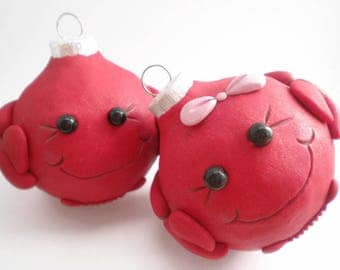 Crab Christmas Ornaments, FREE SHIPPING