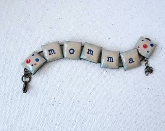 Momma, chain bracelet, FREE SHIPPING
