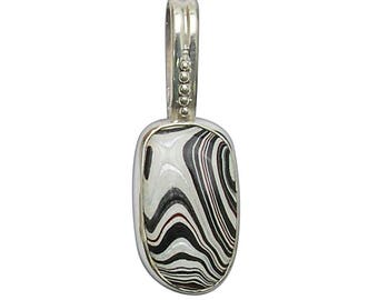 Fordite and Sterling Silver Pendant, pfrdg2801