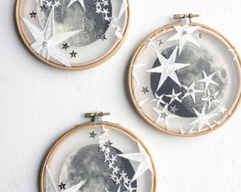 Moon & Stars Hoop Wall Hanging