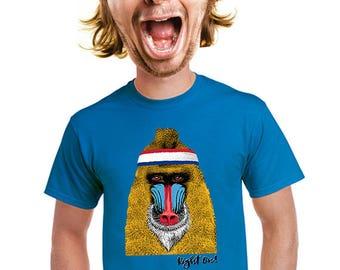 mandrill t-shirt, ape t-shirt, People who like monkeys, gorilla t-shirt, funny monkey, baboon t-shirt, animal lovers, gorilla tee. s-4xl