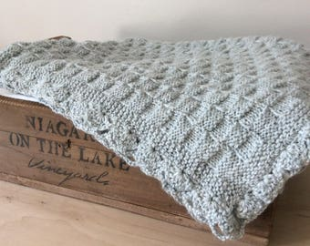 Gray Crochet Baby Blanket Knitted Baby Blanket Gray Baby Blanket Crib Blanket Stroller Blanket Gender Neutral Baby Gift by Warm and Woolly