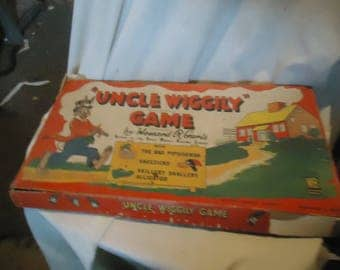 Vintage 1949 Uncle Wiggily Board Game No. 4817 By Milton Bradley, NOT COMPLETE, collectable