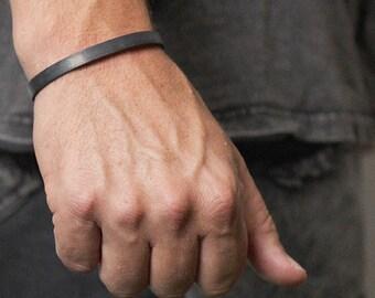 Mens Black Bracelet Cuff Bangle Personalized Man Jewelry Cuffs Bracelets