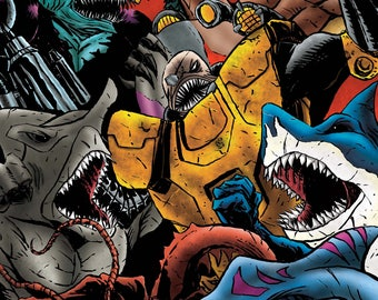 NEW!!! Street Sharks - Jawesome - Print - Signed by the Artist - Jason Flowers