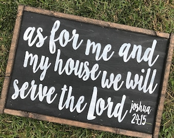 As For Me and My House Home Decor Sign