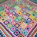 In STOCK New Daisy Blanket Granny Squares Crochet Afghan Sofa Throw