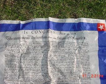 Vintage Declaration Of Independence America Scarf  17 - 1206