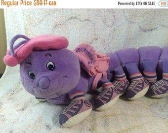 20% SALE Artsy Lots a Leggggggs Caterpillar Plush Stuffed Animal Insect Purple LONG 20 legs