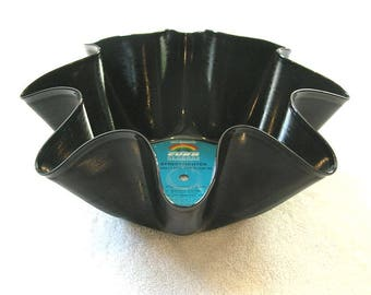 Frankie Valli and The Four Seasons Record Bowl Made From Vinyl Album