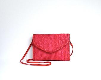Straw shoulder bag | Etsy