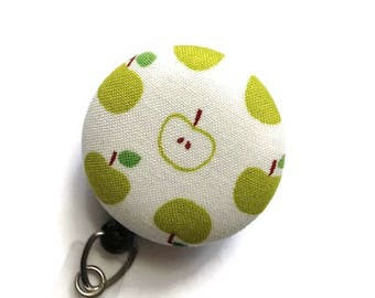 Apples Badge Reel Retractable Badge Holder Nurse Badge Reel ID Badge Reel Badge Clip Name Badge Holder Key Card Holder Teachers Gift