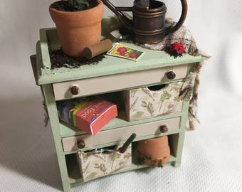 DOLLS HOUSE MINIATURES - Gardeners Drawers