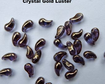 Zoliduo Right Option Crystal Gold Luster (30 Beads) Czech Glass