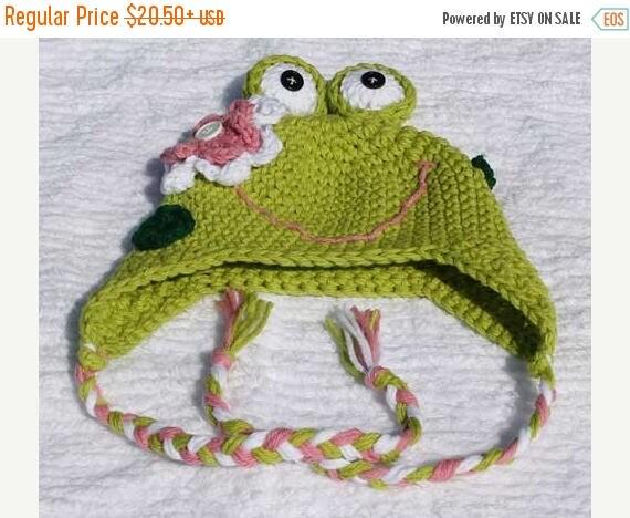 Custom Crochet Toad-ally Adorable Frog Ear Flap Hat