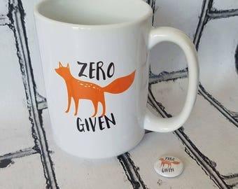 Zero Fox Given - ZFG Logo Mug - Funny Mug - Coffee Mug - Tea Mug - Fox Mug - Colorado Mug - Zero Fox Given Mug - Shop ZFG - Funny Gift Idea