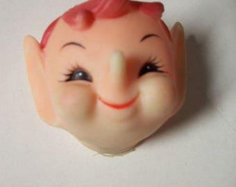 Vintage Elf Pixie Knee Hugger Doll Face (Redhead)