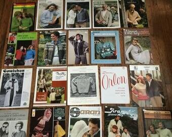 Vintage Sweater Cowichan Aran Fisherman Knitting Magazine Instructions Leaflet Lot