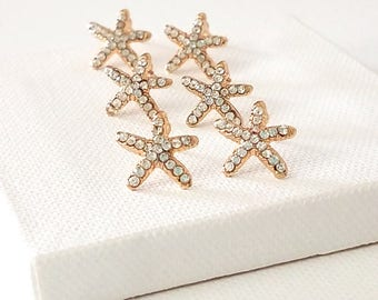 Starfish earrings stud Starfish stud earring Beach bridesmaid jewelry Beach bridesmaid earrings Ocean wedding jewelry Bridemsaid beach gift