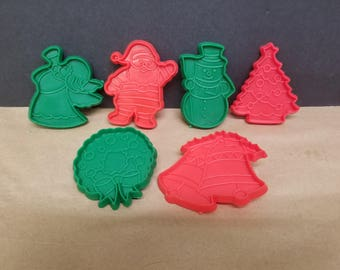 Set of 6 Vintage Cookie Cutters