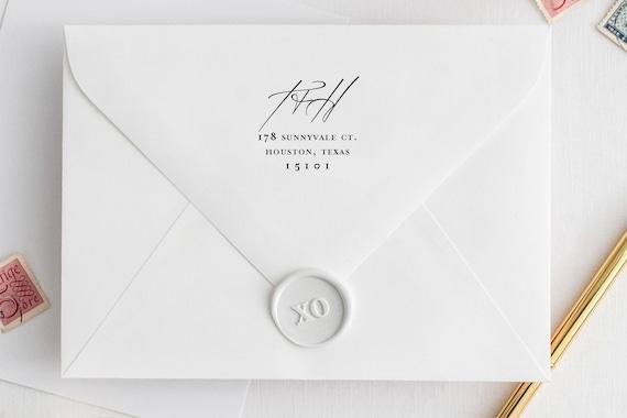 return address stamp self inking wedding invitation stamp save