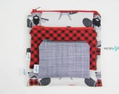 Reusable snack bag sets baggies eco friendly lunch bags toy bags storage floral star wars space garden beaver plaid gold pink grey